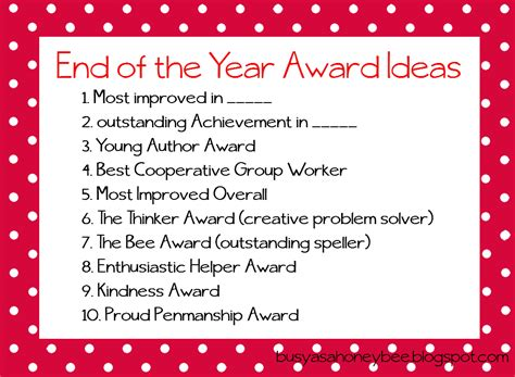 award ideas busy as a honey bee awards but not for me