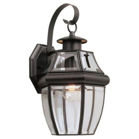 home depot outdoor wall lighting sea gull lighting lancaster wall mount 1 light outdoor