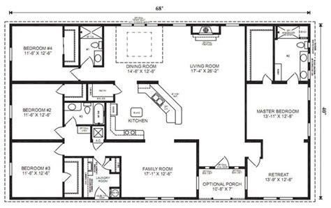 4 bedroom ranch floor plans the world s catalog of ideas