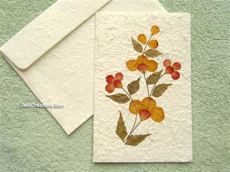 how to make greeting cards with leaves wholesale greeting cards with pressed flowers jedicreations