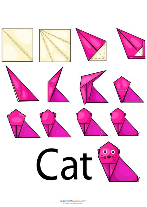 how to make an easy origami cat easy origami cat kidspressmagazine