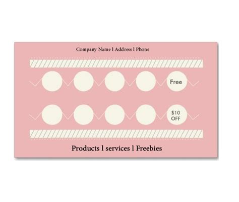 card punches 30 printable punch reward card templates 101 free