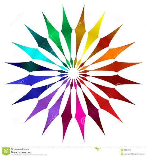 how to color in color wheel stock illustration image of glbt circular