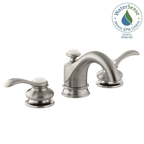 shop kohler fairfax vibrant brushed nickel 2 handle kohler fairfax 8 in widespread 2 handle water saving