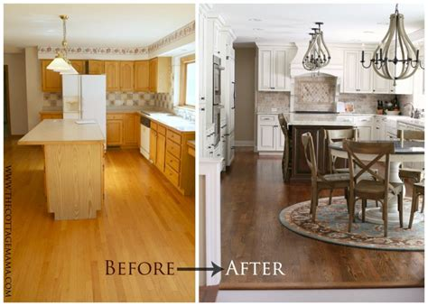 before and after cottage makeover before and after kitchen makeover the cottage