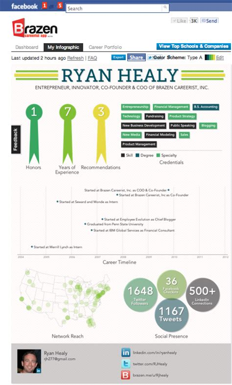 resume infographic generator top 6 free amp best infographic resume creator