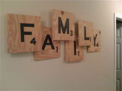 scrabble sign scrabble family sign would be great with last name