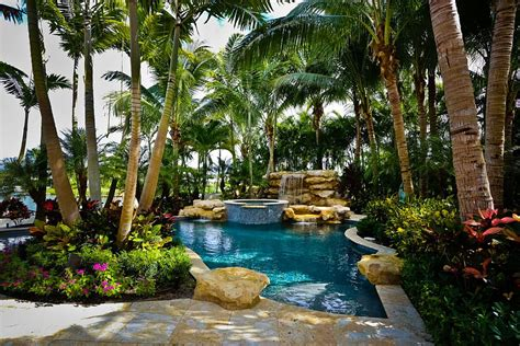 tropical backyard design ideas 25 spectacular tropical pool landscaping ideas