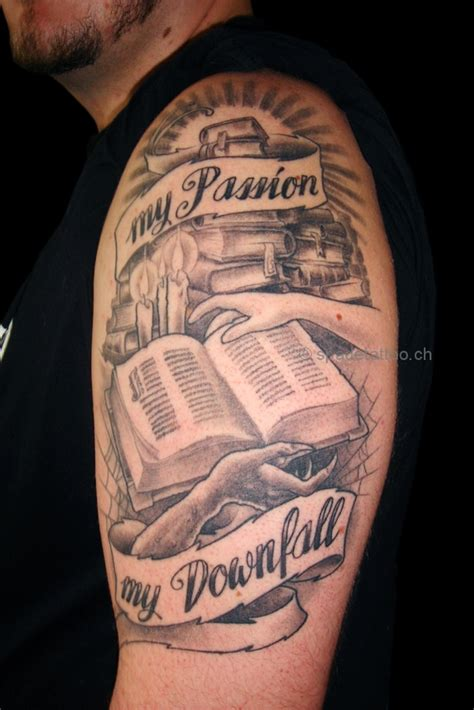book tattoos pictures open book on book librarian