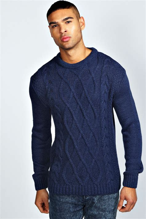 mens knit cable knit jumper crochet and knit