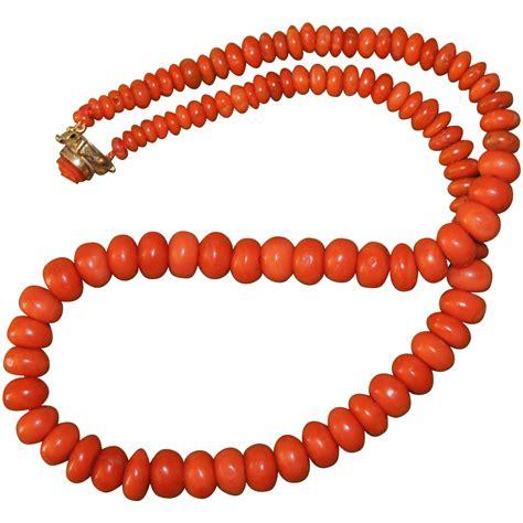 antique coral antique coral necklace