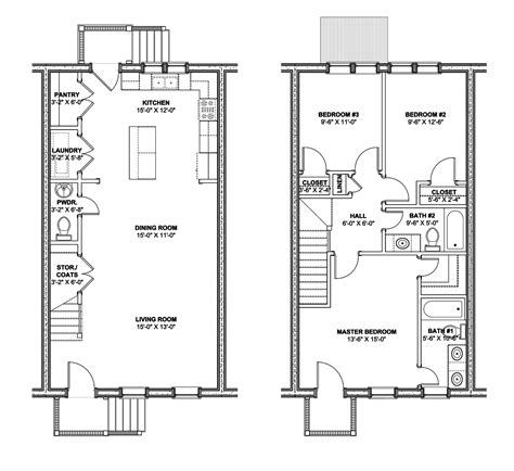 row home floor plan home plans design rowhouse plans