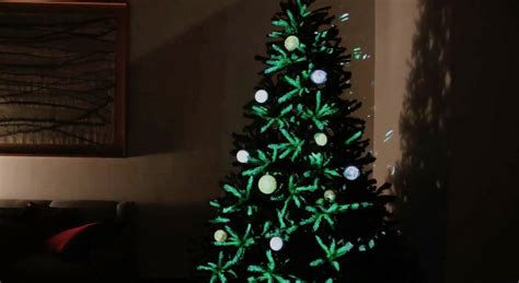 projection tree projection mapped tree ornaments design milk