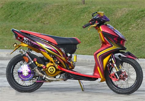 Modifikasi Mio Soul Gt by Mio Soul Gt Modifikasi Modifikasi Motor Kawasaki Honda