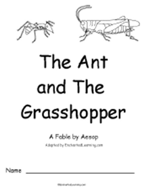 the ant and the grasshopper picture book a early reader books enchantedlearning