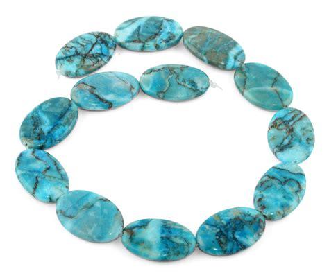 beading gem 20x30mm turquoise oval gemstone
