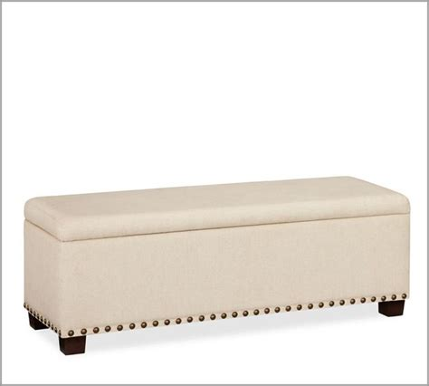 bedroom benches upholstered raleigh upholstered storage bench with nailhead