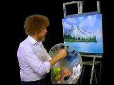 bob ross painting time lapse mountain paintings on