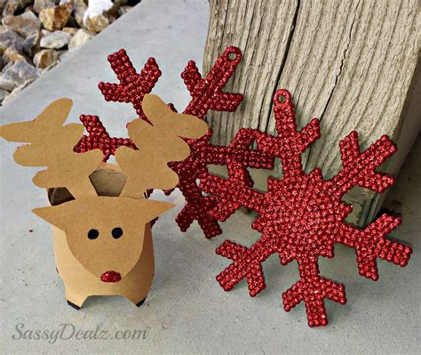 reindeer paper craft mini reindeer toilet paper roll craft for