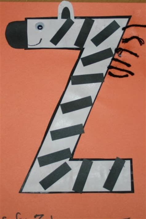 zebra craft for z is for zebra blessings overflowing