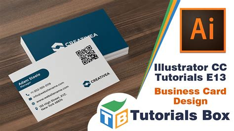 how to make a business card in illustrator cs6 illustrator cc tutorials e13 business card design