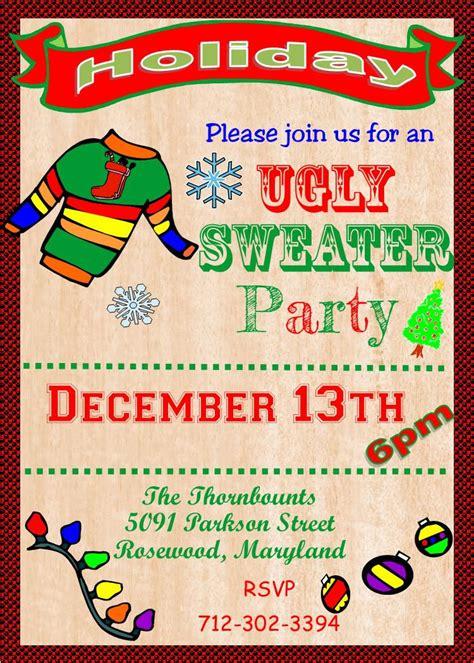 sweater invitations free baptism invitation sweater invitation template free