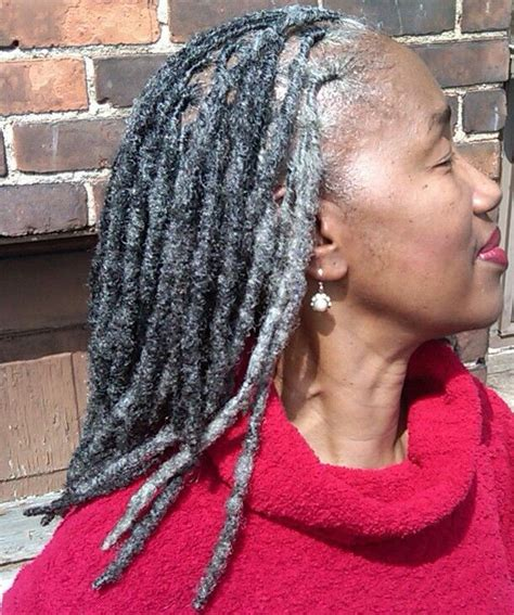 silver dreadlock gray locks hair by hairstylist shante fagans of