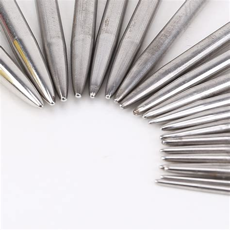 knitting needles metal 20pcs 27mm metal stainless single pointed knitting needles