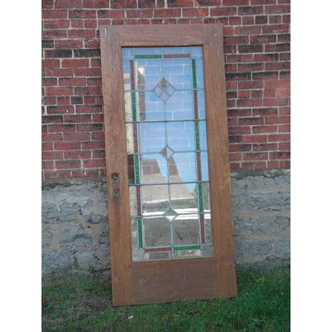 glass exterior door antique leaded glass exterior door