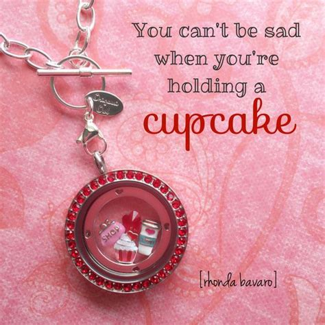 origami owl cupcake charm you can t be sad when you re holding a cupcake this