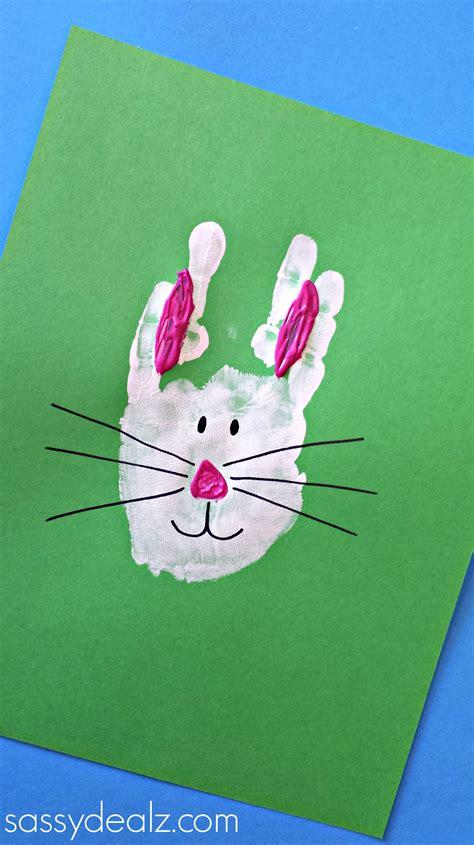 bunny craft for bunny rabbit handprint craft for easter idea