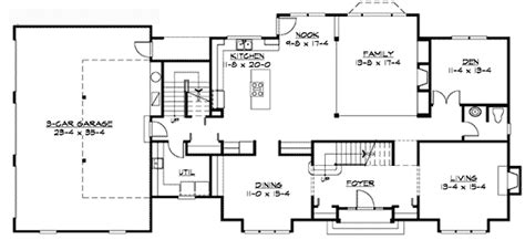 traditional floor plans traditional colonial home plan 23309jd architectural designs house plans