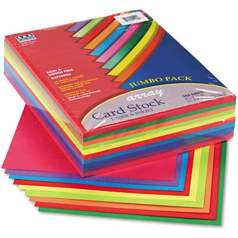 cardstock for card pacon array card stock 65lb letter 250 sheets walmart