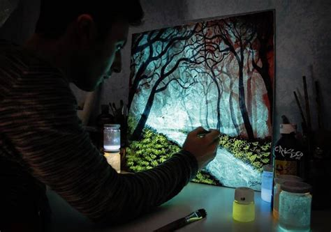 glow in the paint lifespan glow in the paint reveals surprises in paintings when