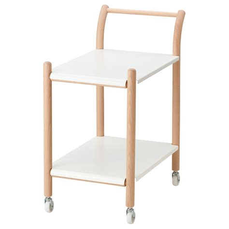 ikea side tables ikea ps 2017 side table on castors beech white 69x40 cm ikea