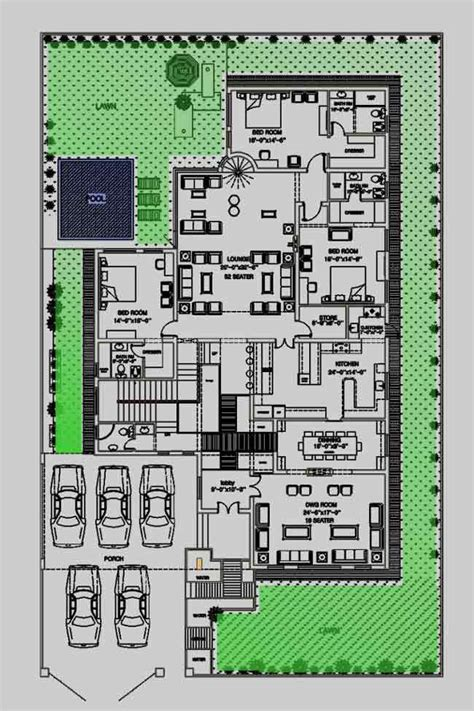 House Plans With Large Laundry Room house floor plan by 360 design estate 2 kanal
