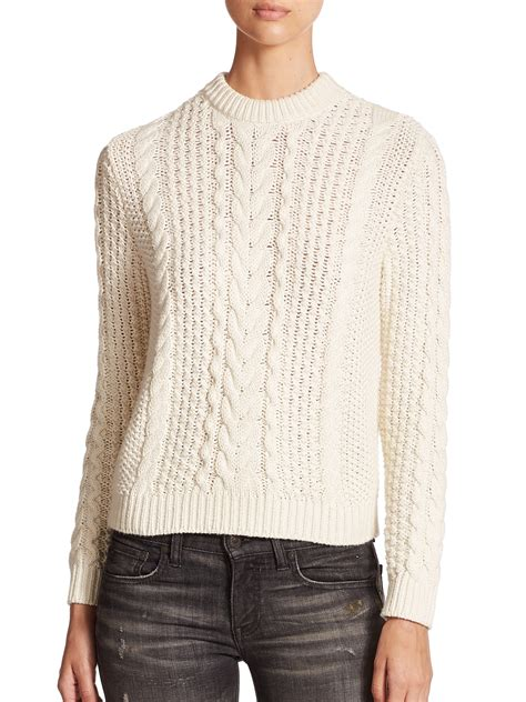 cable knit ralph sweater polo ralph cable knit sweater in lyst