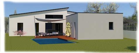 constructeur maison contemporaine toit plat avec pasio chaios