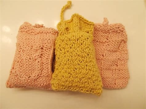 knitted soap holder pattern not your average soap caddies holders pattern by