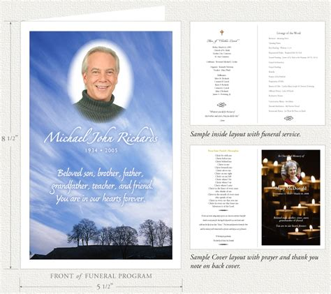 how to make a funeral memorial card funeral programs by memorial prayer cards