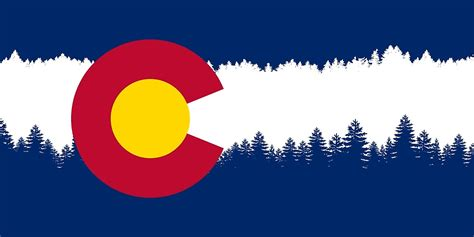 colorado woodworking quot colorado flag treeline silhouette quot by freeformations