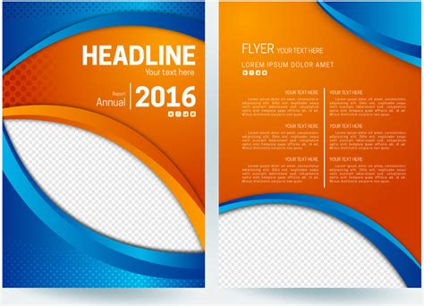Car Wallpapers Free Psd Flyer by Abstract Flyer Background With Orange And Blue Color Free