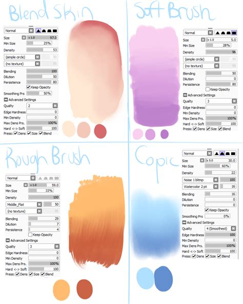 paint tool sai pack sai brush settings 1 by skyflamia on wysp character