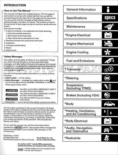 service manuals schematics 2012 honda ridgeline free book repair manuals 2009 2012 honda ridgeline repair shop manual original 2 volume set
