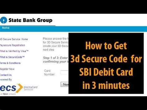 how to make bank card how to get sbi 3d secure code for sbi debit cards in 3