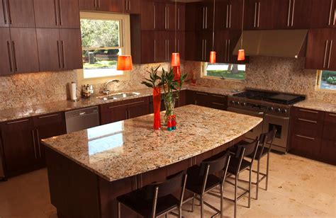 Cherry Kitchen Cabinets With Granite Countertops granite countertops ideas for your natural contemporary