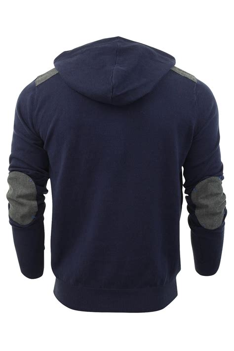 mens knit hoodie mens hoodie jumper threadbare brazil hooded cotton knit