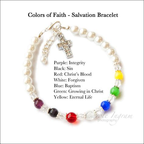 salvation bracelet color meaning size colors of faith by heartstringsjewelz