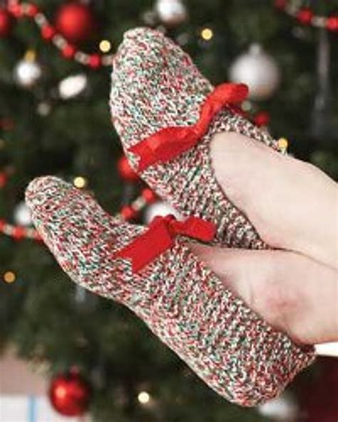 knitting holidays knit slippers favecrafts
