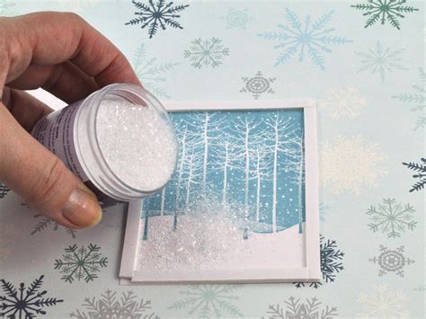 how to make a shaker card falling snow shaker card hgtv